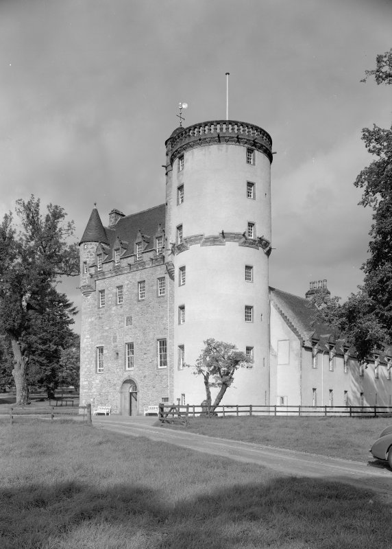 View of Castle Fraser from SE.