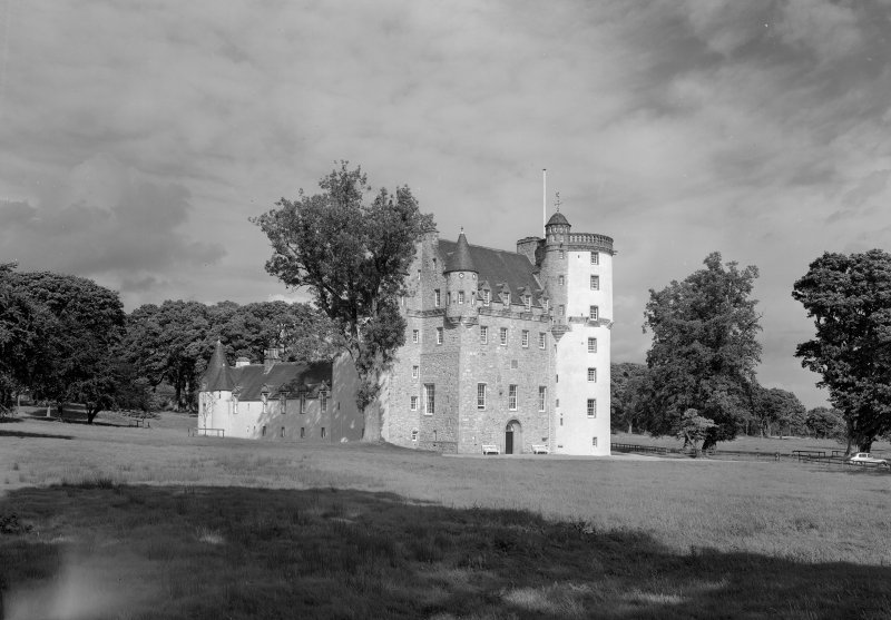 View of Castle Fraser from SW.