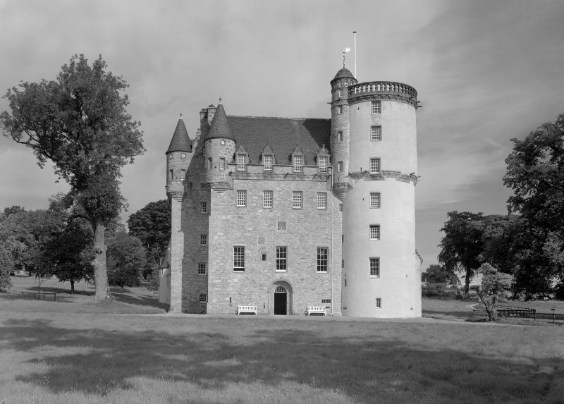 View of Castle Fraser from S.