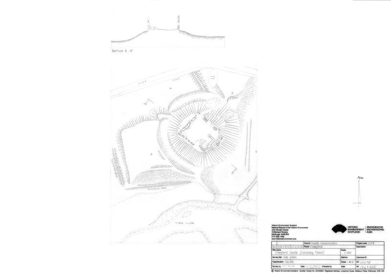 Crawford Castle: Site plan