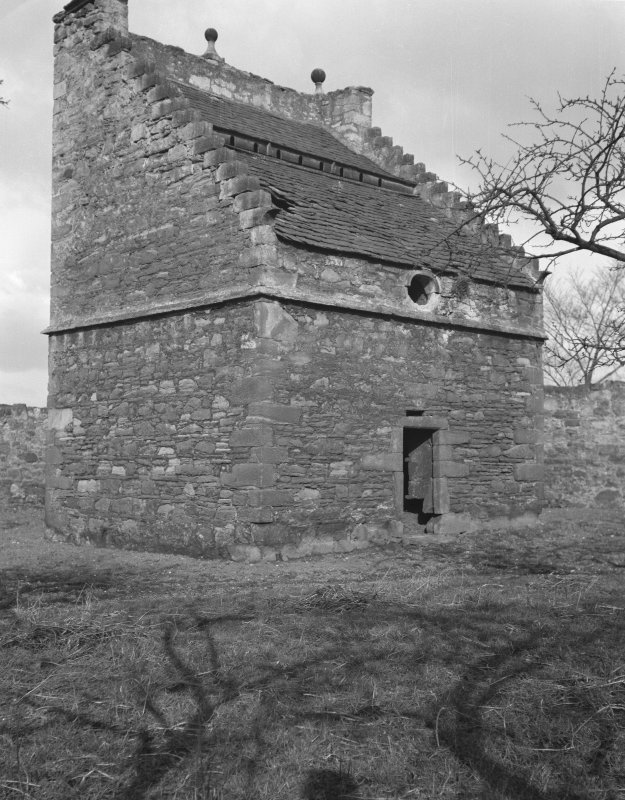 Preston Tower and dovecot. General view.
