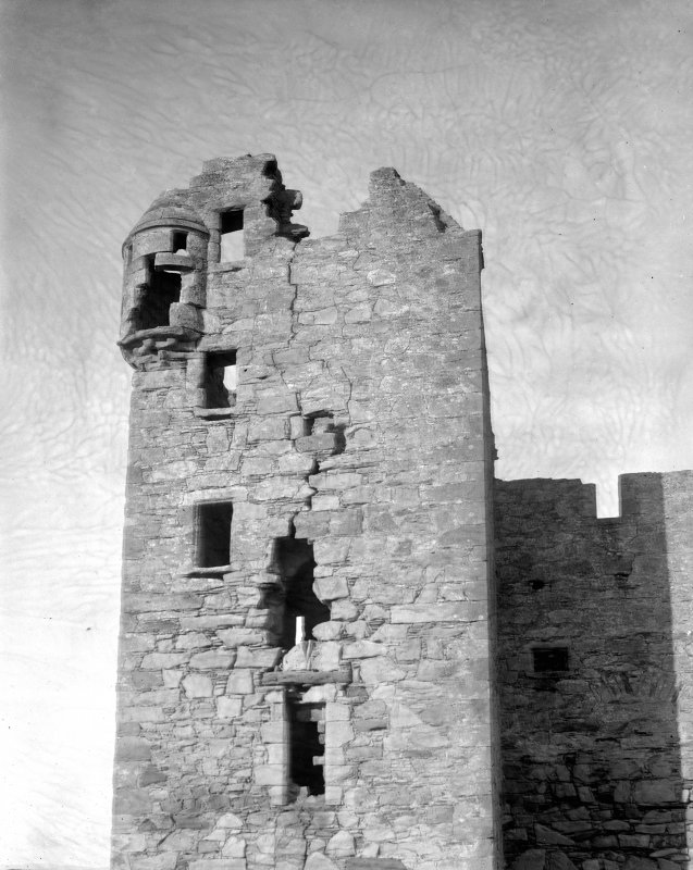 Ballone Castle, view of tower.