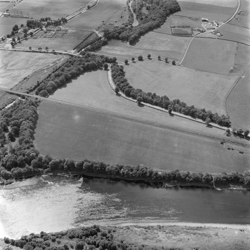 Oblique aerial view of the site of the Roman fort at Bertha.