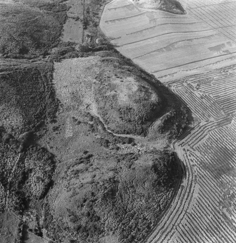 Oblique aerial view of Easter Rarichie fort.