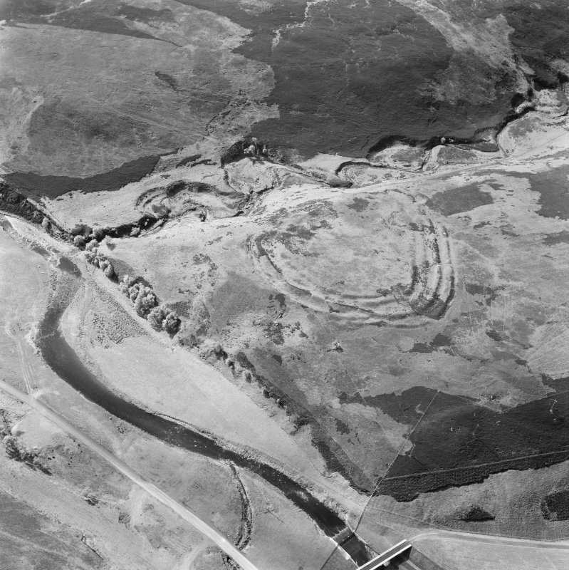 Oblique aerial view of the remains of Friar's Nose fort.