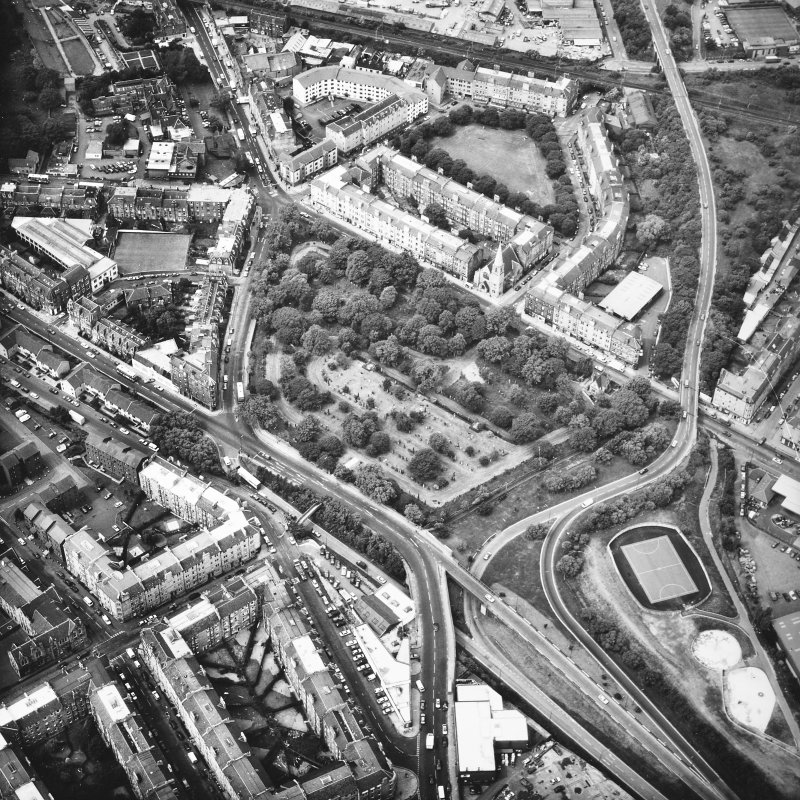 Dalry Cemetery Aerial view