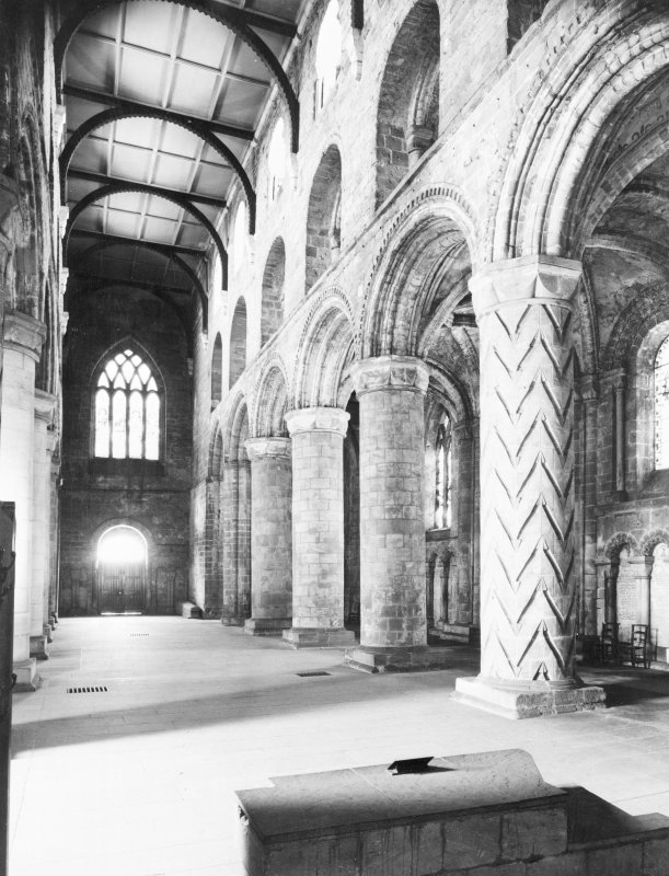 Dunfermline Abbey, New Abbey Parish Kirk, interior. View of nave.