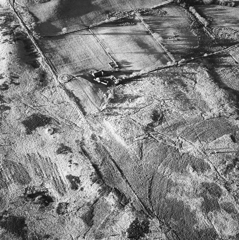 Machrie Moor, oblique aerial view.