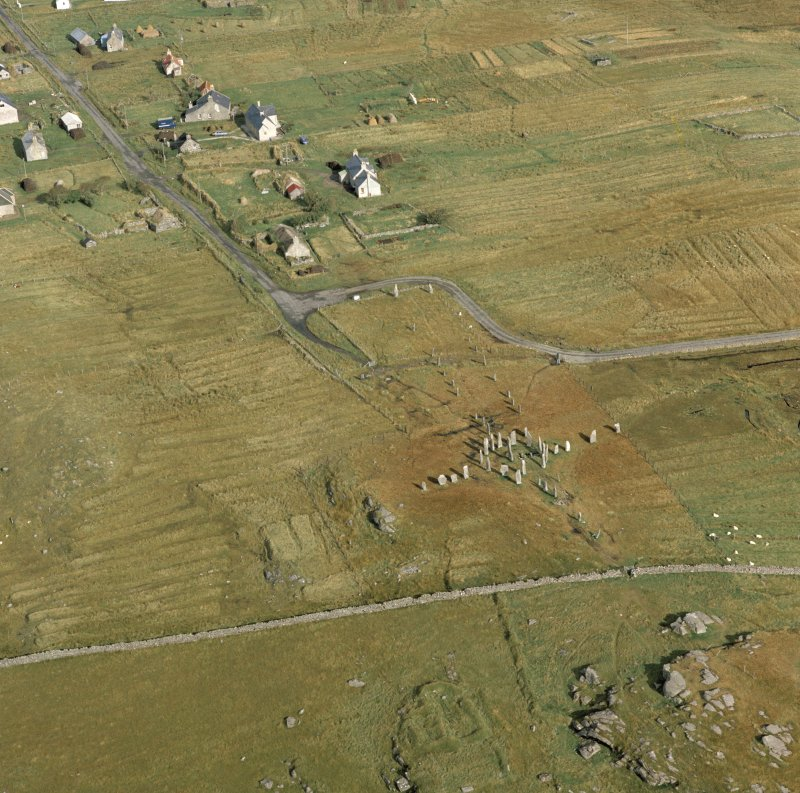 Oblique aerial view of Callanish.