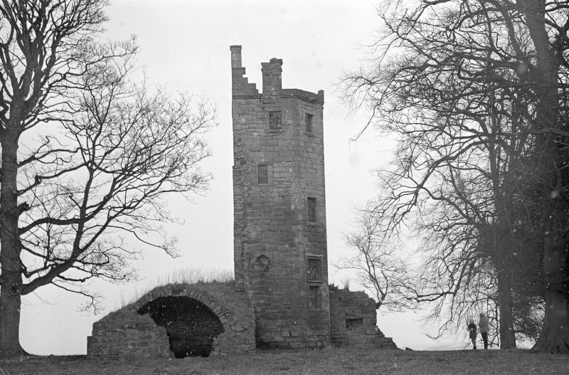 General view of the tower-house.