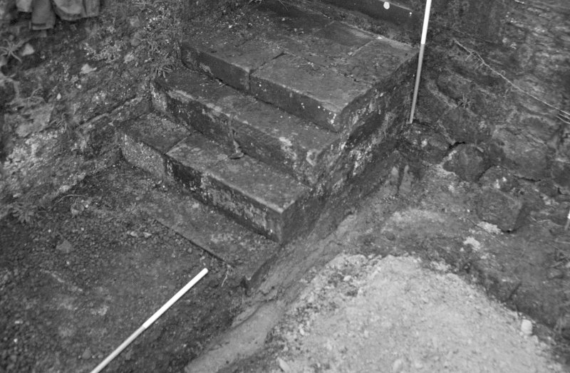 Falkland Palace Excavations Frame 5 - Trench 1, fully excavated - from north-east
