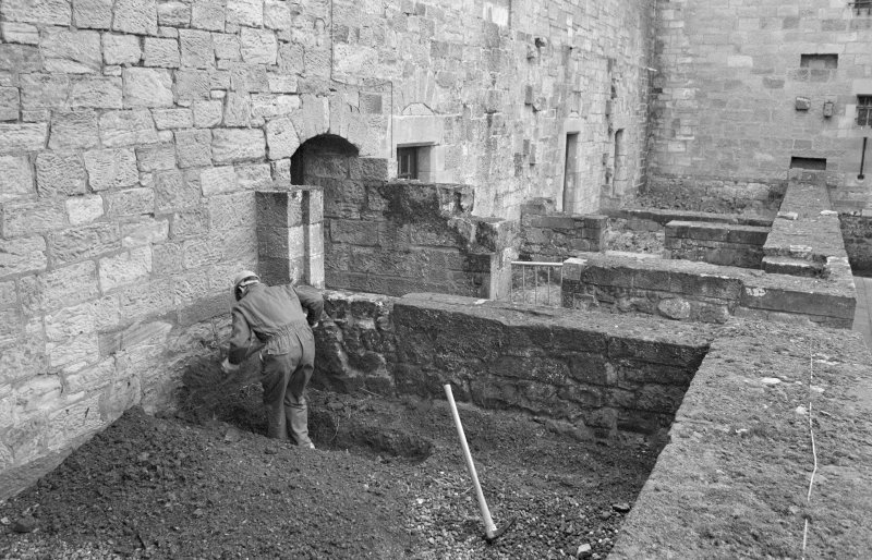 Falkland Palace Excavations Frame 27 - Trench 6, early in the excavation - from south-east