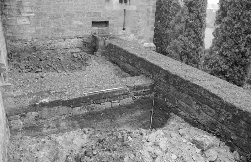 Falkland Palace Excavations Frame 28 - Trench 5, fully excavated - from south-west
