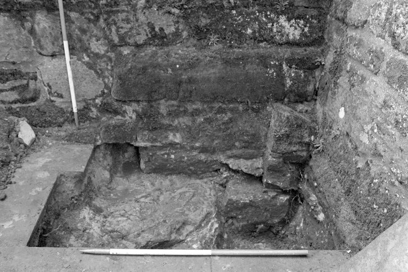 Falkland Palace Excavations Frame 6 - Trench 4, showing latrine outlet - from east