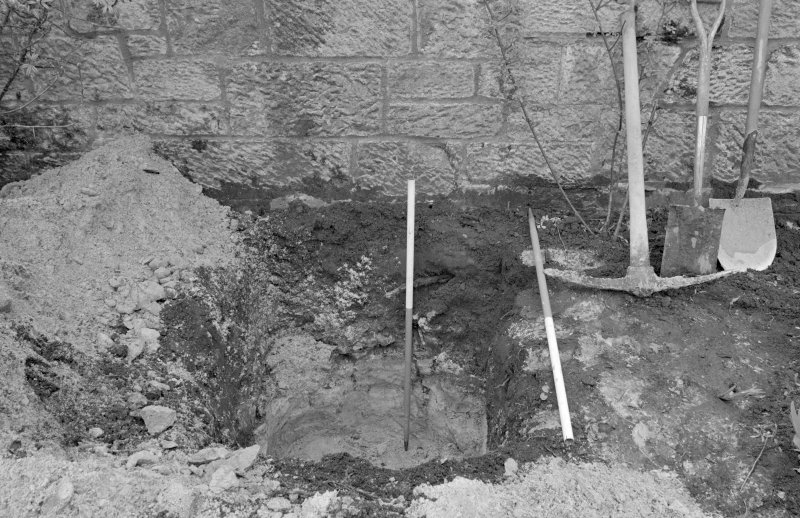 Falkland Palace Excavations Frame 24 - Sump 3, fully excavated - from east