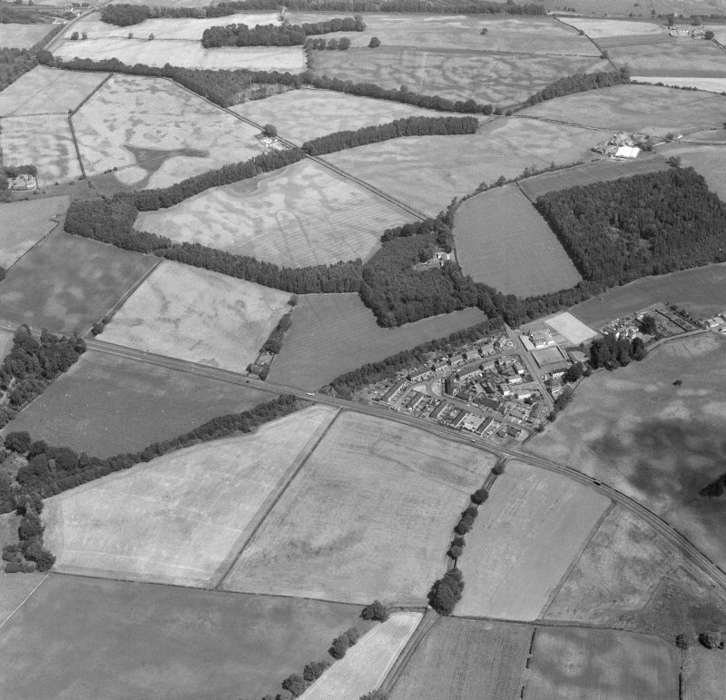 Oblique aerial view of the cursus at Holywood from south west