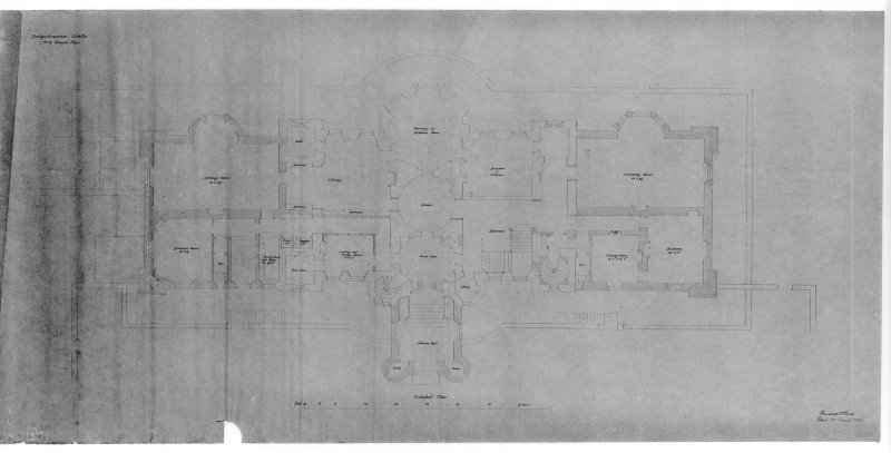 Photographic copy of drawing showing plan of principal floor.