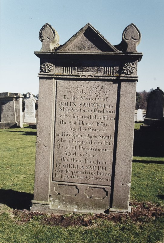 Detail of headstone.