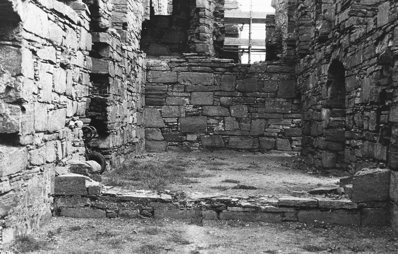 Excavation photograph : west range - room 1 before excavation, from south.