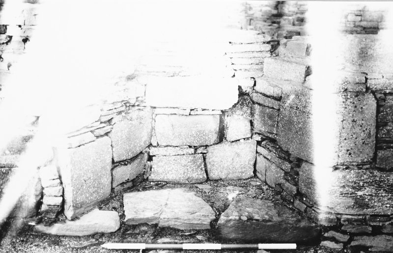 Excavation photograph : south range - room 3 window, from south.