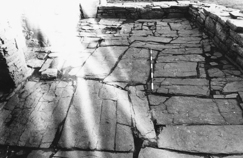 Excavation photograph : south range - room 2 paved floor, from west.