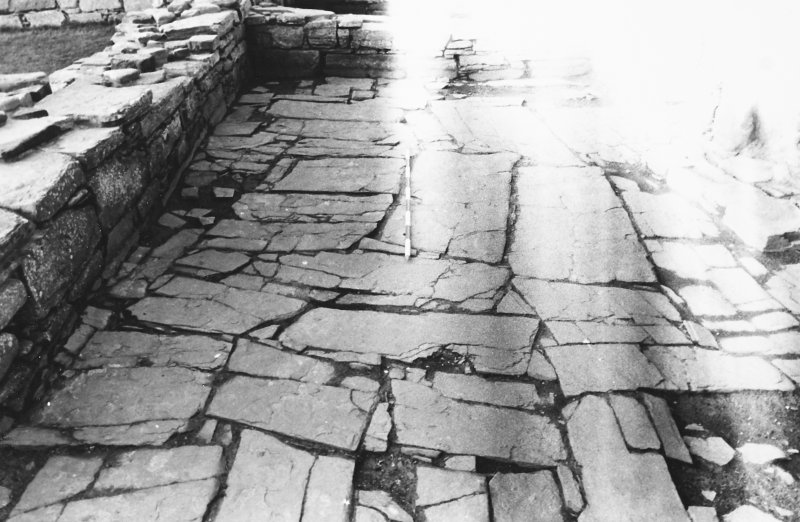 Excavation photograph : south range - room 2 paved floor, from east.