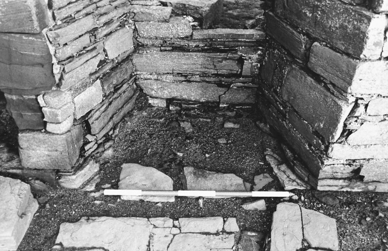Excavation photograph : south range - room 2 window, from south.