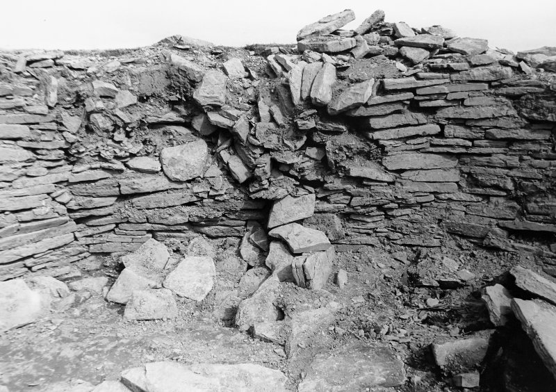 Wall of broch tumbling into north-west.