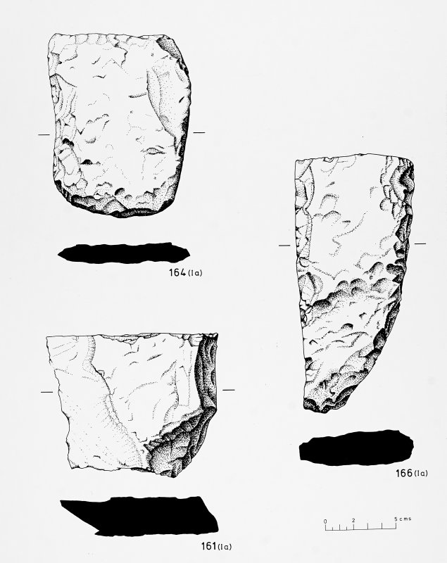 Stone chipping debris and associated tools/rough-outs - Bu broch.  BAR Fig.1.45, p77