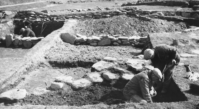 Publication Photograph: Excavation of lower slope communal peat ash midden.