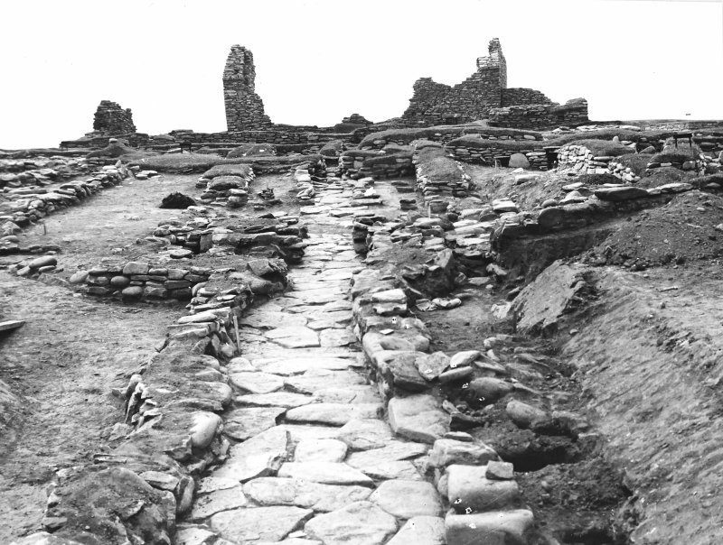 Publication Photograph: Viking house 3; showing secondary paved road.