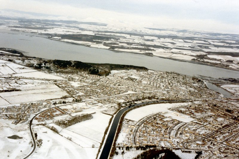 Aerial view of Scorguie, Muirtown, Kinmylies and Dalneigh, Inverness, looking NW.