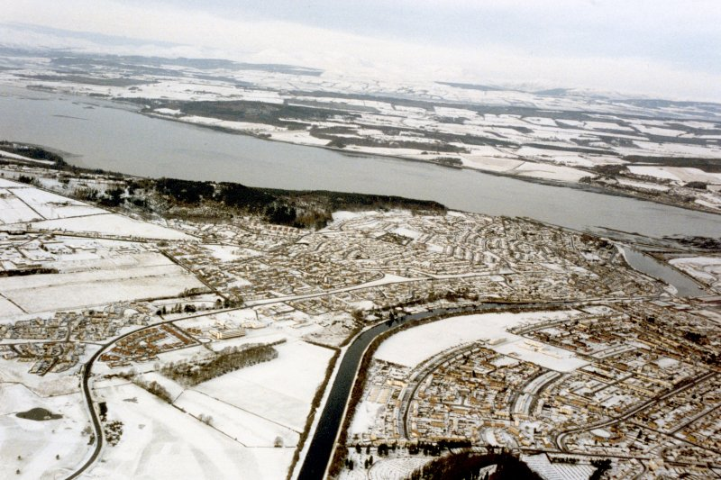 Aerial view of Inverness and the Beauly firth, looking NW.