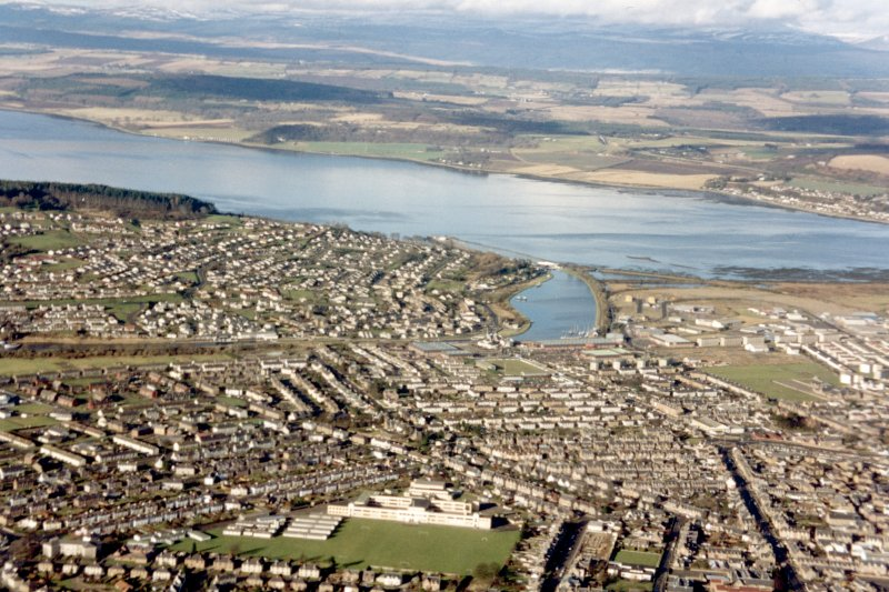 Aerial view of Inverness, looking NW.
