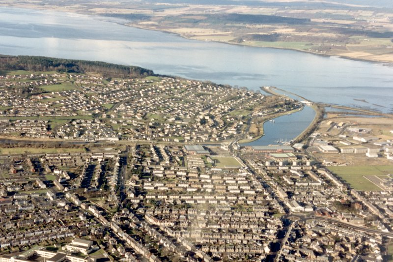 Aerial view of West Inverness, looking NW.