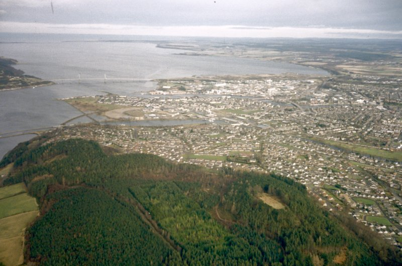 An oblique aerial view of Inverness, looking NE.