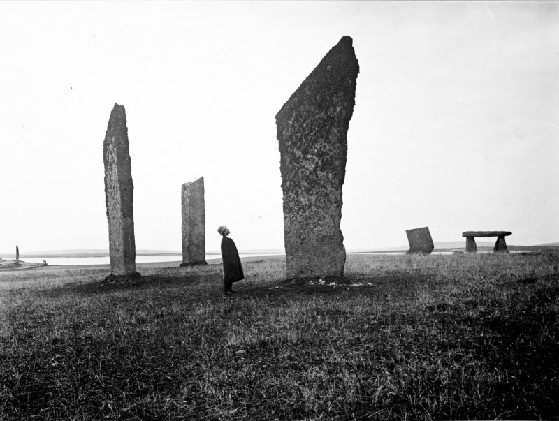 View of stone circle.