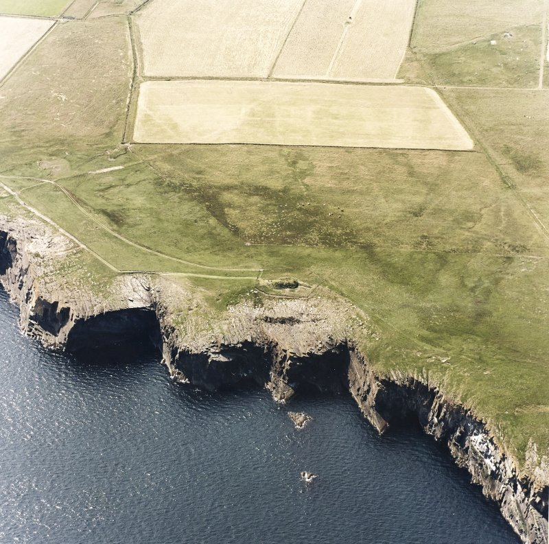 Aerial view of Isbister, South Ronaldsay