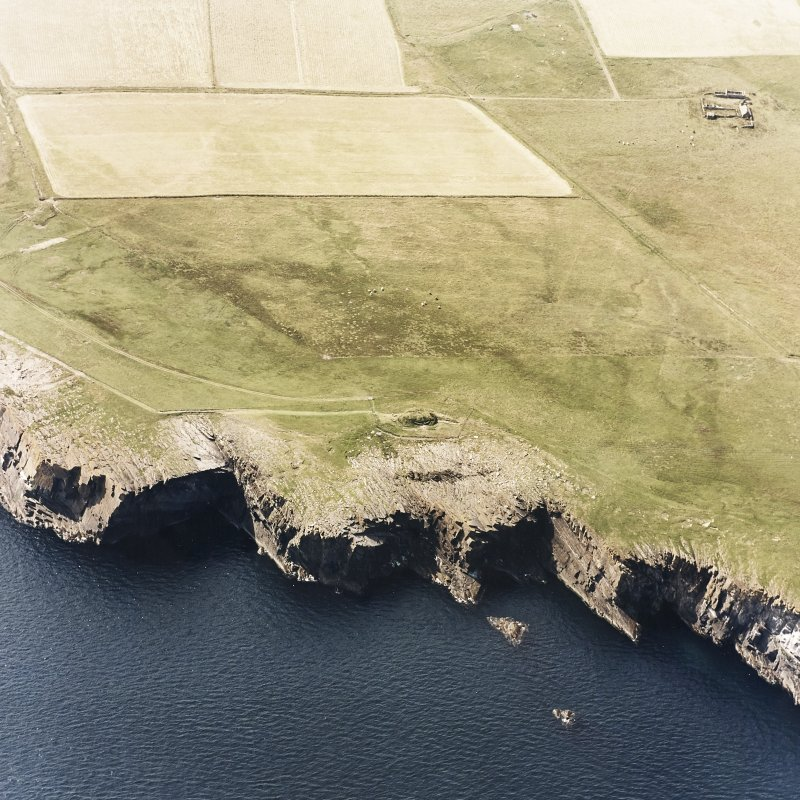Aerial view showing Isbister, South Ronaldsay
