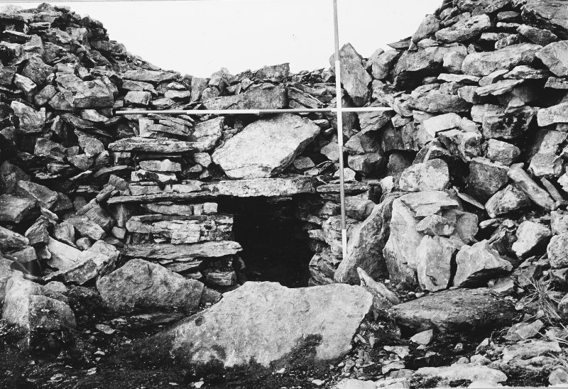 Entrance to chamber A, before excavation.