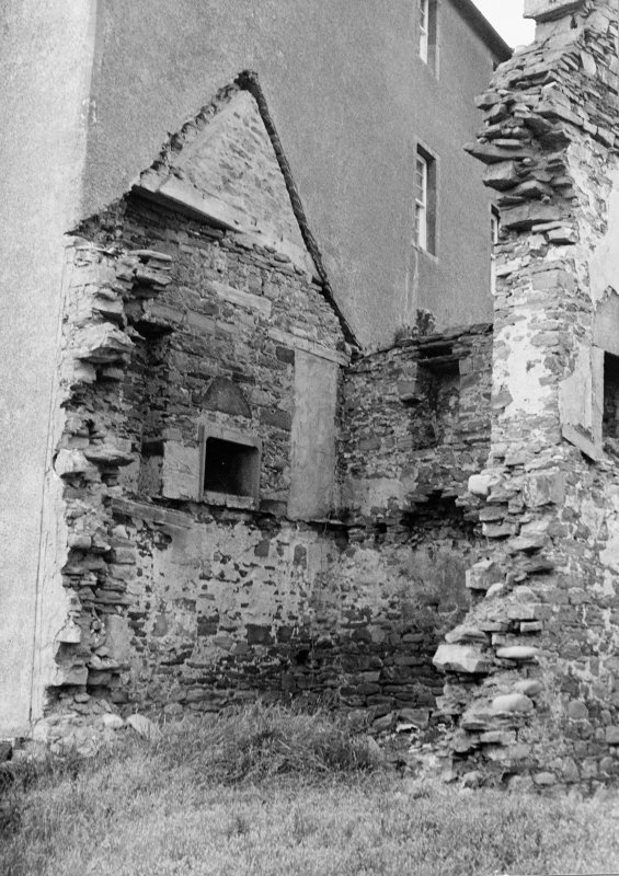 Survey photograph. View of ruined wing.