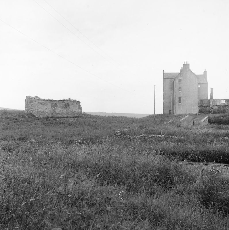 Survey photograph. Castle and mausoleum.