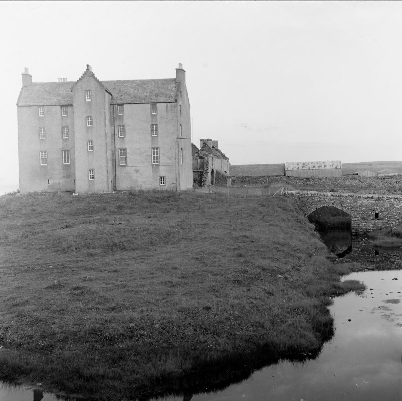 Survey photograph. View of castle and bridge.