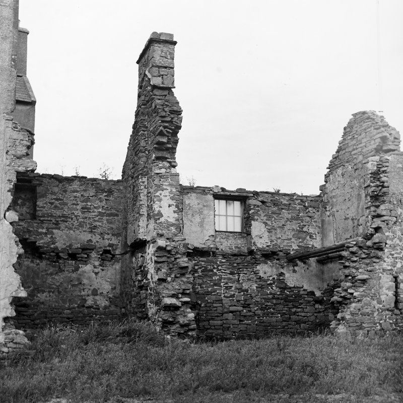 View of ruined wing.