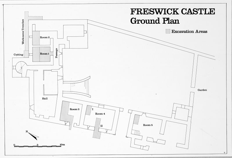 Fig. 4. Ground plan.  Copy in library.  Original illustration based on pencil drawing DC 498.
