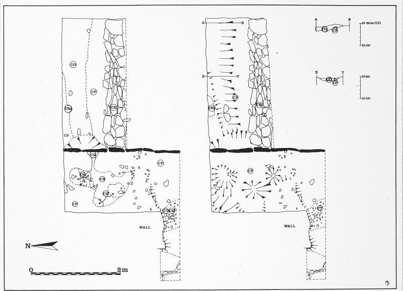 Fig. 7. Trench plans.  The original ink drawings for this illustration came from DC 496, DC 495, DC 493, DC 487 & DC 486.