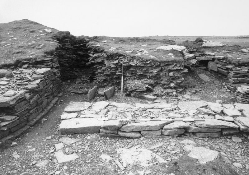 General view of tomb entrance and chambers_from N