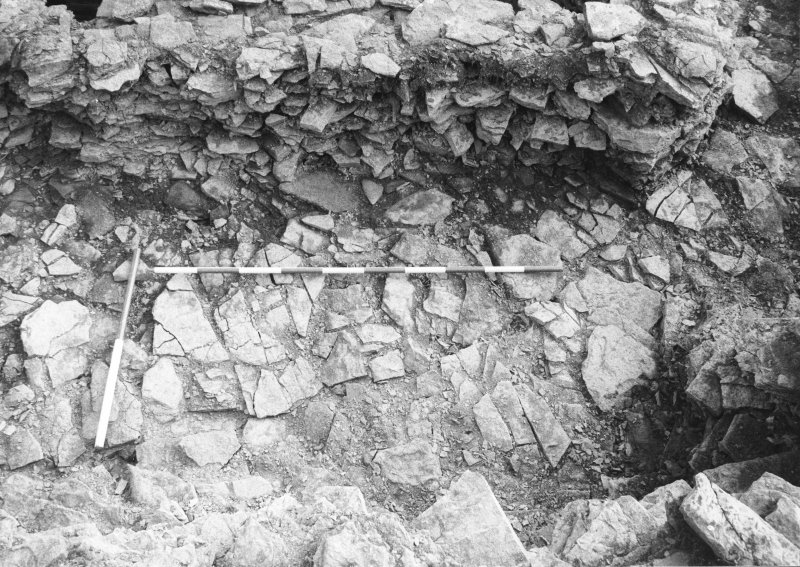 Alignment of the two walls after excavation from W.
