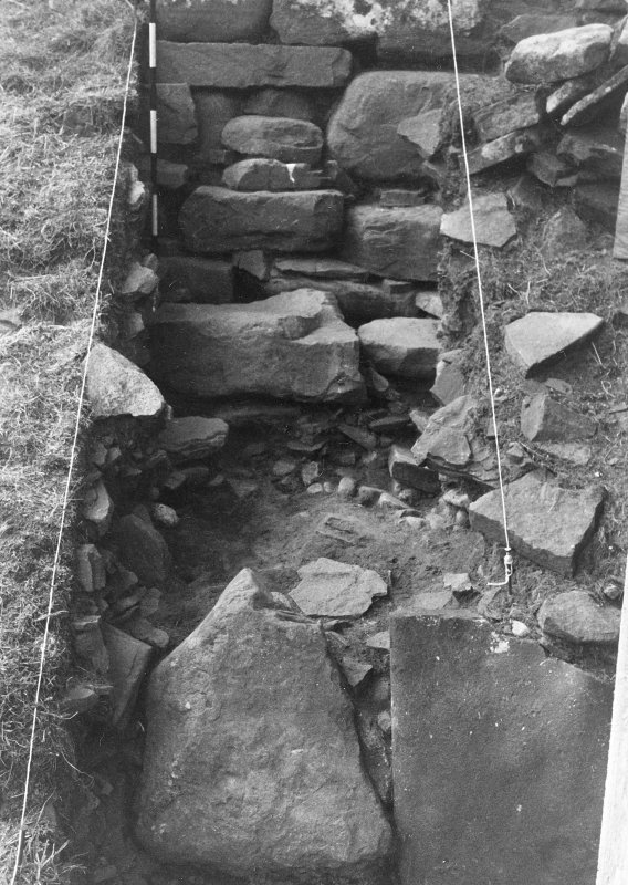 Trench 1, Area B, control section showing R1 and 2, B1 and 2. From North