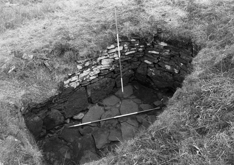 Trench 1,area B, sunken chamber,after cleaning,from south west